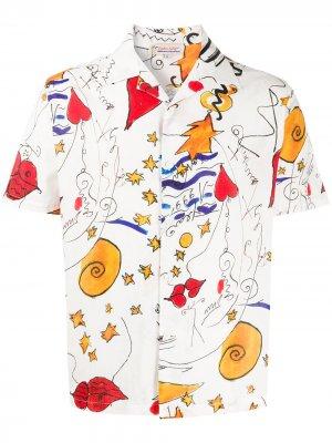 Рубашка Miami Mi Amor с короткими рукавами Esteban Cortazar. Цвет: нейтральные цвета