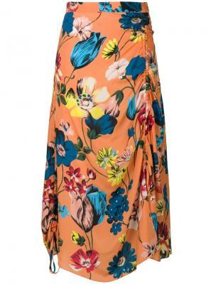 Floral print draped skirt House Of Holland. Цвет: желтый