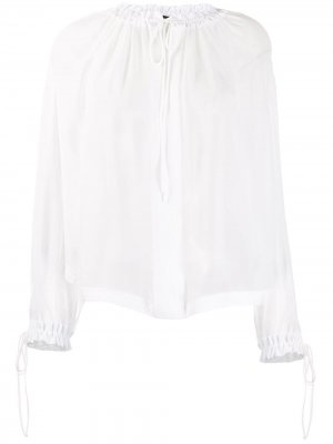 Прозрачная блузка Tom Ford. Цвет: белый