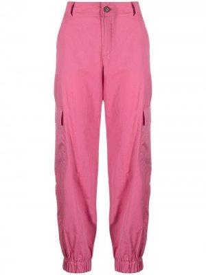 Прямые брюки с завышенной талией Lamberto Losani. Цвет: розовый