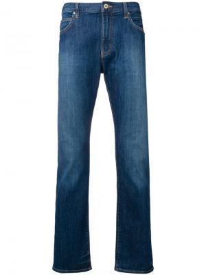 Расклешенные джинсы с низкой посадкой Emporio Armani. Цвет: синий