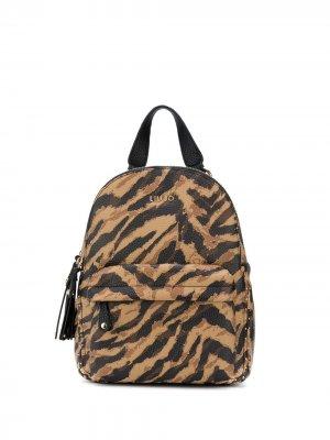 Рюкзак с анималистичным принтом LIU JO. Цвет: коричневый