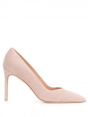 Туфли-лодочки с заостренным носком Stuart Weitzman. Цвет: розовый