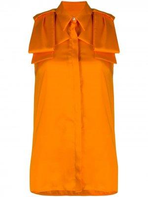 Удлиненная блузка без рукавов Victoria Beckham. Цвет: оранжевый