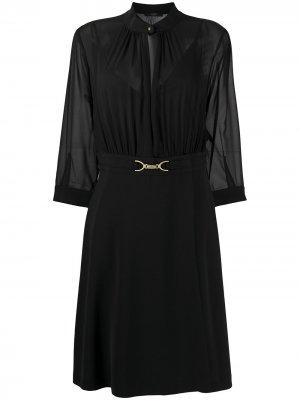 Полупрозрачное платье миди Seventy. Цвет: черный