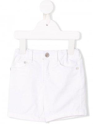 Эластичные джинсовые шорты Emporio Armani Kids. Цвет: белый