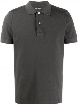 Рубашка поло с короткими рукавами Tom Ford. Цвет: зеленый