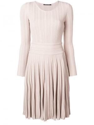Приталенное платье с расклешенным подолом Antonino Valenti. Цвет: нейтральные цвета