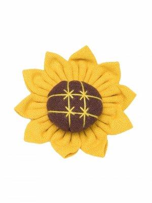 Caffe Dorzo брошь с цветочной аппликацией Caffe' D'orzo. Цвет: желтый