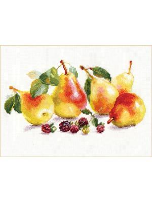 Набор для вышивания Груши 26х15 см  Алиса. Цвет: желтый, зеленый, оранжевый
