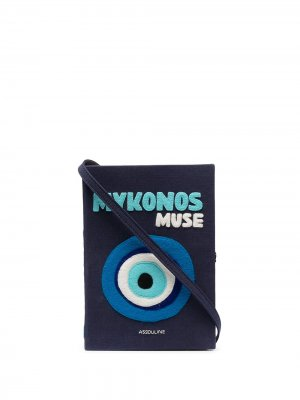 Клатч в виде книги Mykonos Muse Olympia Le-Tan. Цвет: синий