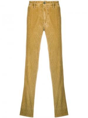 Вельветовые брюки чинос Incotex. Цвет: желтый