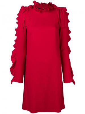 Frill trim shift dress Giambattista Valli. Цвет: красный