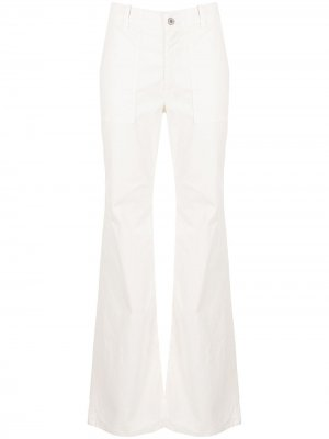 Прямые брюки с завышенной талией Nili Lotan. Цвет: белый