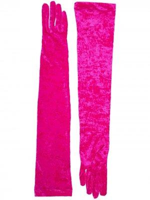 Длинные перчатки Marine Serre. Цвет: розовый