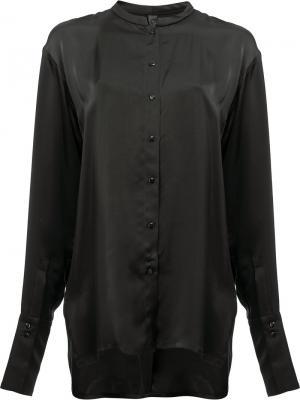 Рубашка без воротника Ilaria Nistri. Цвет: черный