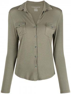 Рубашка из джерси с длинными рукавами Majestic Filatures. Цвет: зеленый