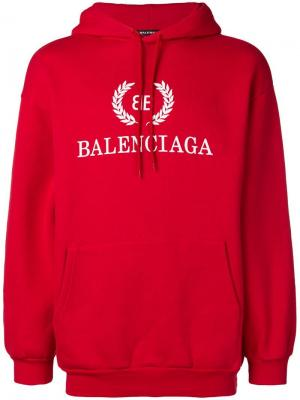 Худи BB Balenciaga. Цвет: красный