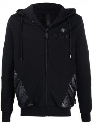 Спортивная куртка с логотипом Philipp Plein. Цвет: черный