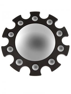 Зеркало с контрастной отделкой Fornasetti. Цвет: черный