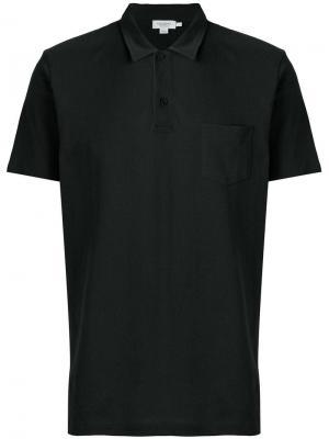 Рубашка-поло Riviera Sunspel. Цвет: черный