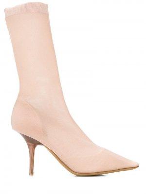 Ботильоны-носки Yeezy. Цвет: розовый