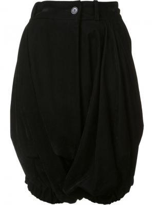 Плиссированные шорты-шаровары Vivienne Westwood Red Label. Цвет: чёрный