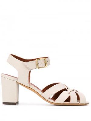 Босоножки на наборном каблуке Michel Vivien. Цвет: нейтральные цвета