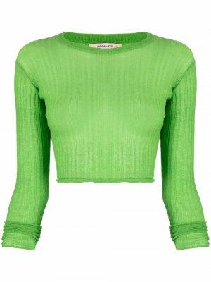 Ribbed-knit cropped top Paloma Wool. Цвет: зеленый