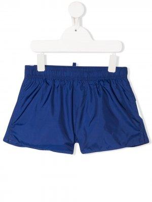 Плавки-шорты с логотипом Dsquared2 Kids. Цвет: синий