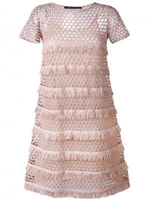 Платье Dafne Antonino Valenti. Цвет: розовый и фиолетовый