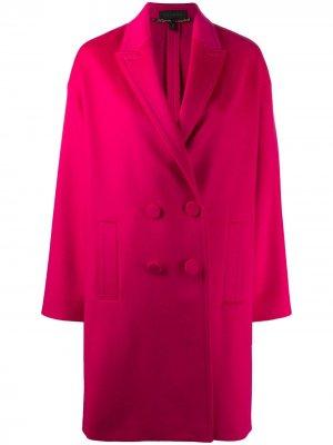 Двубортное пальто средней длины Escada. Цвет: розовый