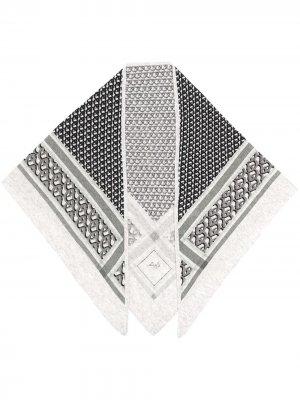 Кашемировый шарф с монограммой Lala Berlin. Цвет: серый
