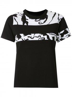 Блузка с принтом Gloria Coelho. Цвет: черный