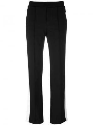 Спортивные брюки с лампасами Moncler. Цвет: черный