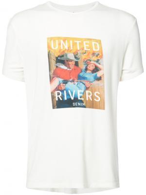 Футболка United Drivers Rivers. Цвет: белый