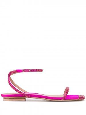 Декорированные сандалии Sebastian. Цвет: розовый