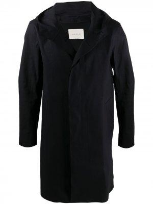 Плащ Dunoon с капюшоном Mackintosh. Цвет: черный