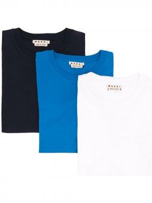 Набор из трех футболок с короткими рукавами Marni. Цвет: синий