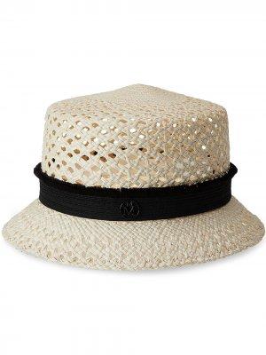 Соломенная шляпа Arsene Maison Michel. Цвет: нейтральные цвета