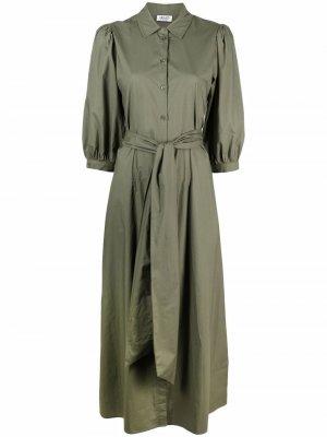 Платье-рубашка макси LIU JO. Цвет: зеленый