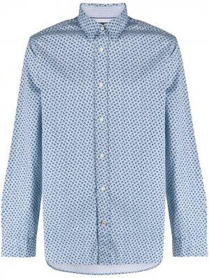 Рубашка в мелкую точку Tommy Hilfiger. Цвет: синий