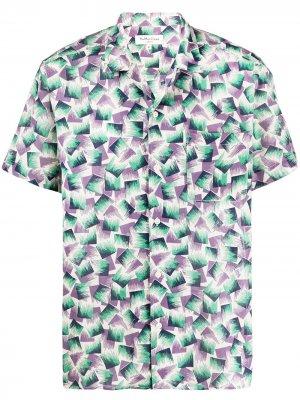 Рубашка с абстрактным принтом YMC. Цвет: нейтральные цвета