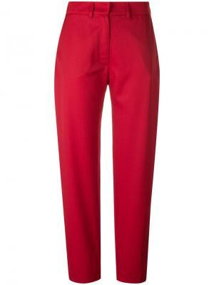 Строгие брюки House Of Holland. Цвет: красный