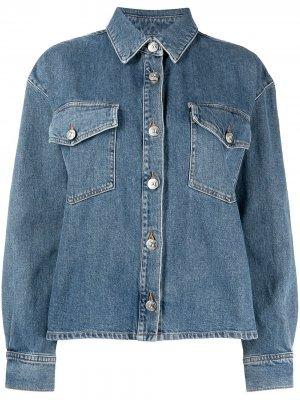 Джинсовая рубашка с карманами 3x1. Цвет: синий