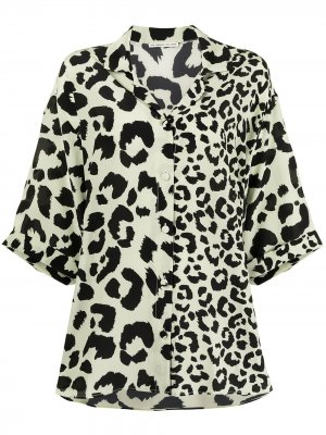 Блузка с леопардовым принтом Être Cécile. Цвет: зеленый
