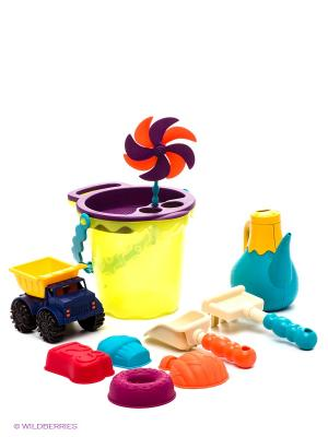Игровой набор для песка Battat. Цвет: салатовый, фиолетовый