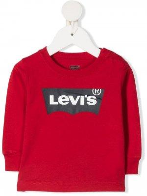 Levis Kids свитер с логотипом Levi's. Цвет: красный