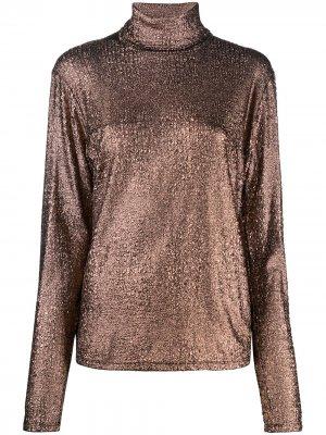 Блузка 2000-х годов с высоким воротником Jean Paul Gaultier Pre-Owned. Цвет: коричневый