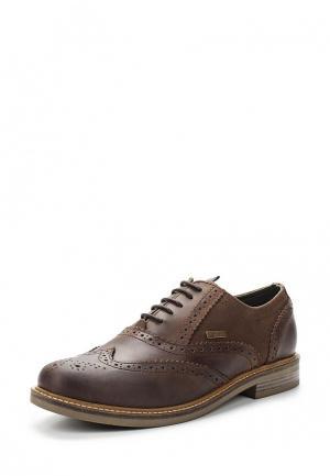 Туфли Barbour. Цвет: коричневый